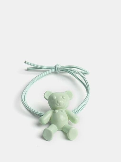 green Cute fluorescent color bear Hair Rope