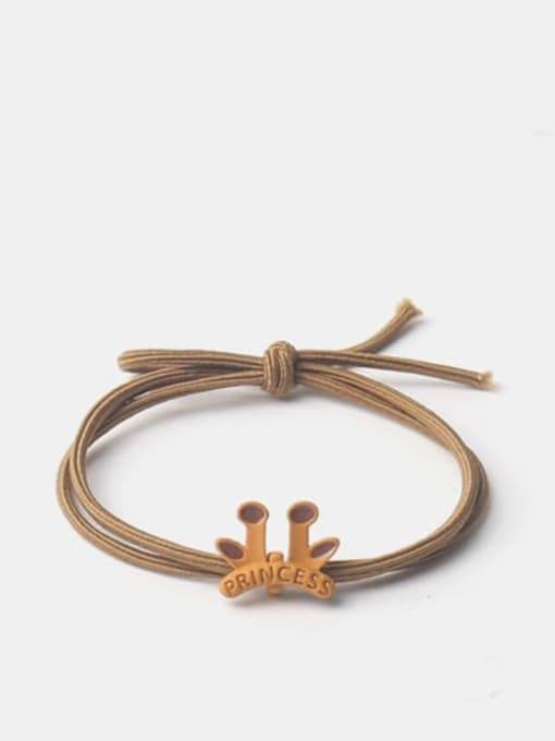 Antlers Alloy Enamel Cute Icon  Multi Color Hair Rope