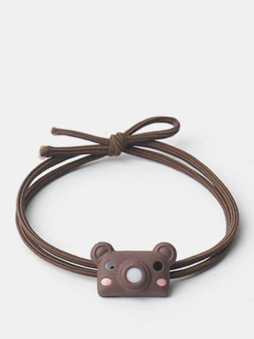 Brown bear bubble machine Cute cartoon animal hair rope