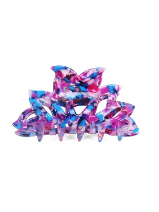 BUENA Cellulose Acetate Minimalist Geometric Multi Color Jaw Hair Claw 4