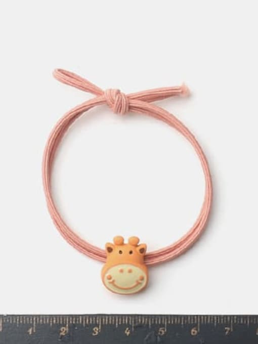 JoChic Alloy Enamel Cute Orange Giraffe Multi Color Hair Rope 1