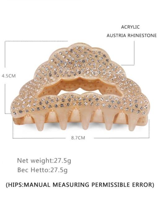 BUENA Acrylic Minimalist Geometric Alloy Rhinestone Multi Color Jaw Hair Claw 2