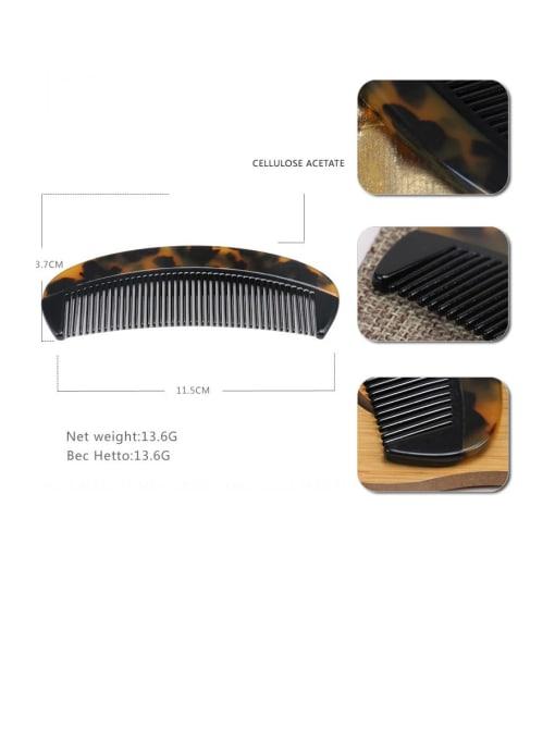 Deep hawksbill Cellulose Acetate Minimalist Geometric Multi Color Hair Comb