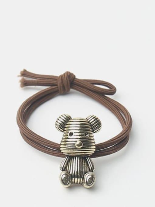 Gloomy Bear Alloy Little Bear Hair Rope