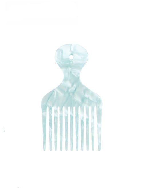 Mint Green Cellulose Acetate Minimalist Multi Color Hair Comb