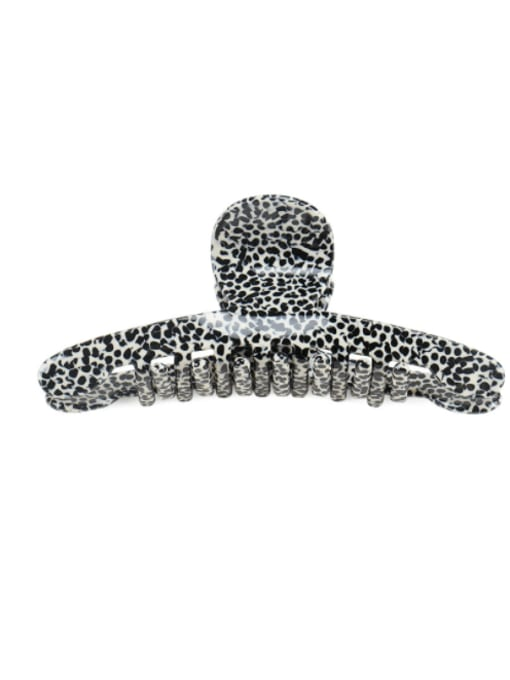 Black and white leopard print Cellulose Acetate Minimalist Irregular Jaw Hair Claw