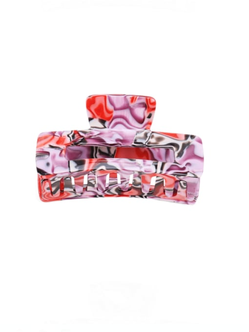 Red marble Cellulose Acetate Minimalist Geometric Multi Color Jaw Hair Claw