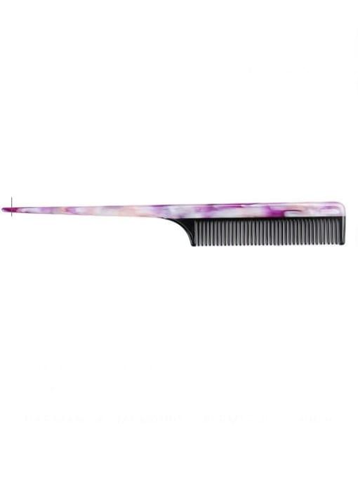 Broken flower purple Cellulose Acetate Minimalist Geometric Multi Color Hair Comb