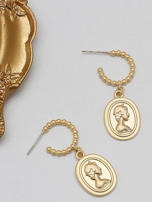 HYACINTH Alloy Gold Geometric Minimalist Drop Earring 3