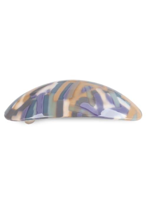 BUENA Alloy Cellulose Acetate Minimalist Geometric  Multi Color Hair Barrette 3