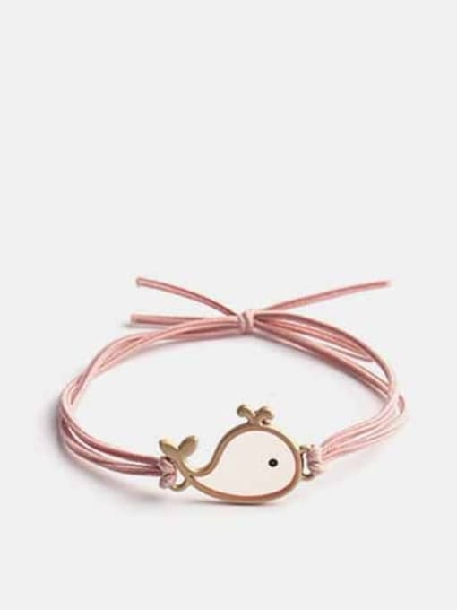Pink Alloy+Cute Fish  Multi Color Hair Rope