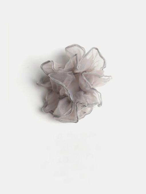 Grey Yarn Minimalist Double-Layer Cuffed Large Intestine Ring