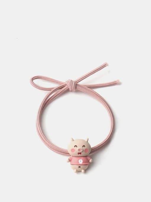 Pink pig Alloy Enamel Cute  Multi Color Hair Rope