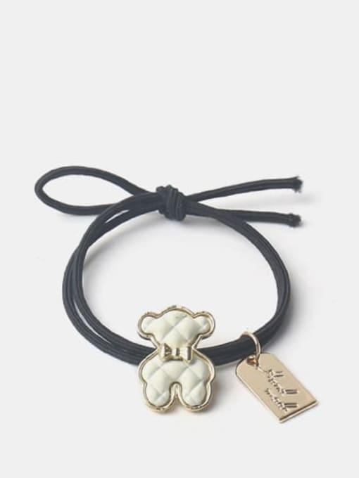 White puppet bear Alloy Cute Denim Blue Bear Brown Puppet Bear Yellow Puppet Bear Hair Rope