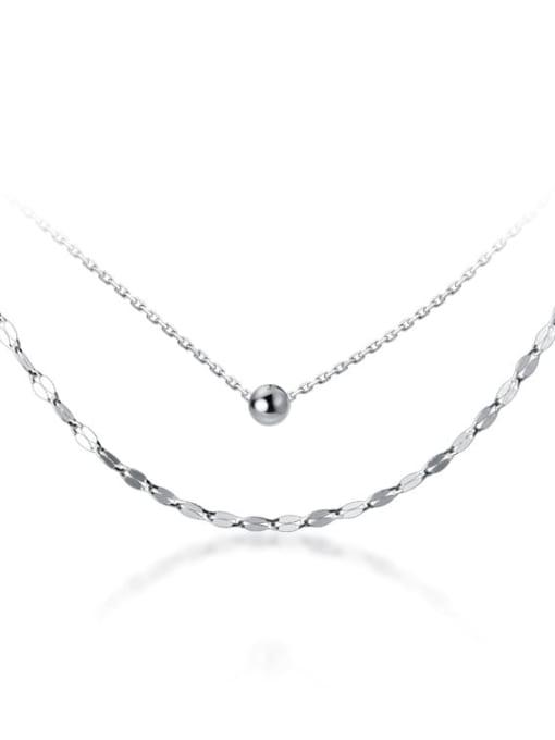 Rosh 925 Sterling Silver Silver Minimalist Multi Strand Necklace 4