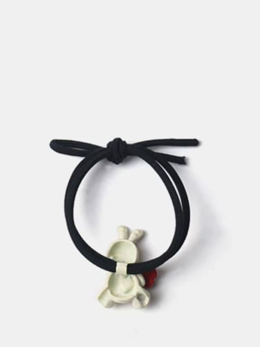 JoChic Alloy Cute Rabbit  Rhinestone White Hair Rope 2