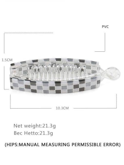 Grid grey Alloy  PVC Minimalist Geometric Multi Color Hair Barrette
