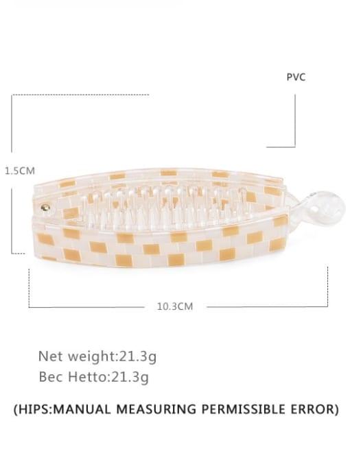 Grid yellow Alloy  PVC Minimalist Geometric Multi Color Hair Barrette