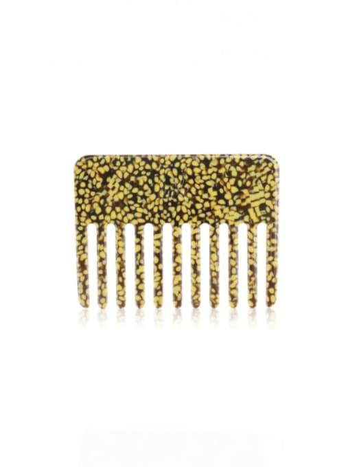 Yellow spots Cellulose Acetate Minimalist Multi Color Hair Comb