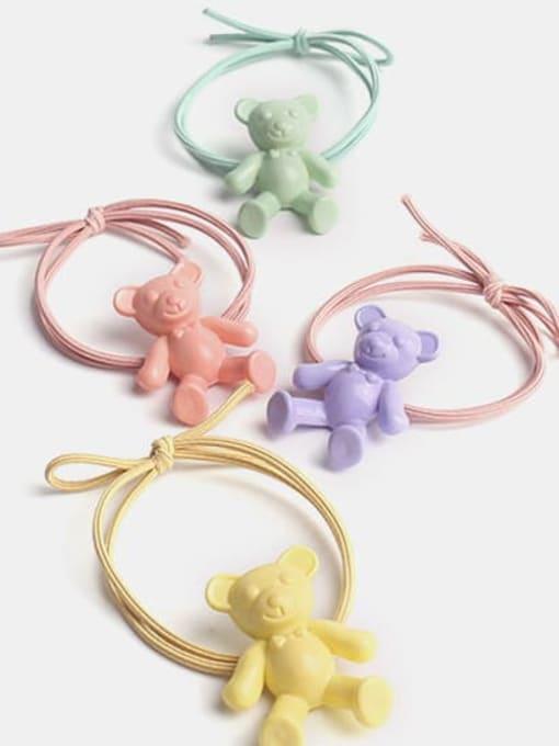 JoChic Cute fluorescent color bear Hair Rope 0