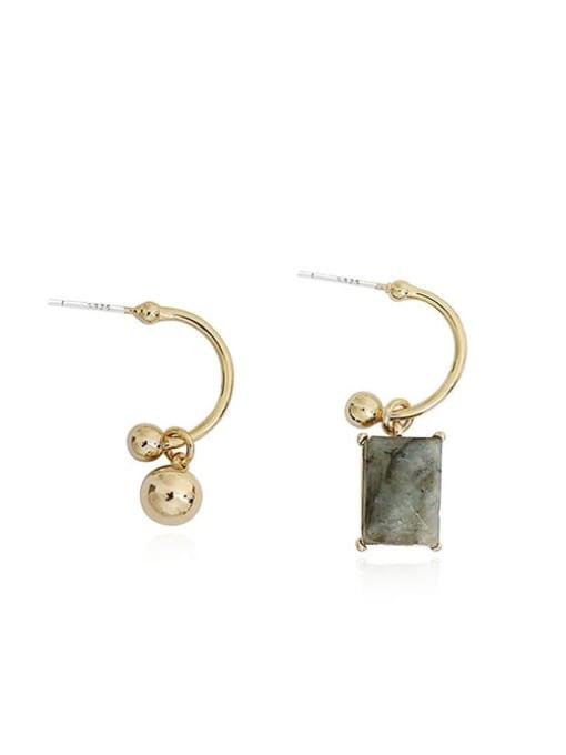 HYACINTH Copper Alloy Gold Geometric Minimalist Drop Earring 4