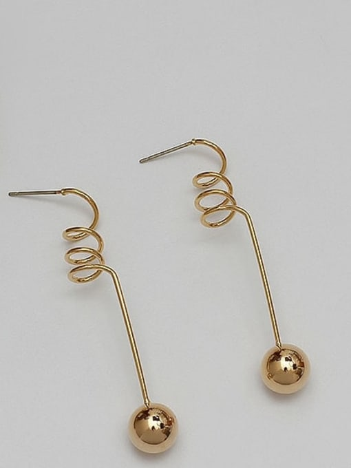 HYACINTH Copper Alloy Gold Geometric Minimalist Earring 1