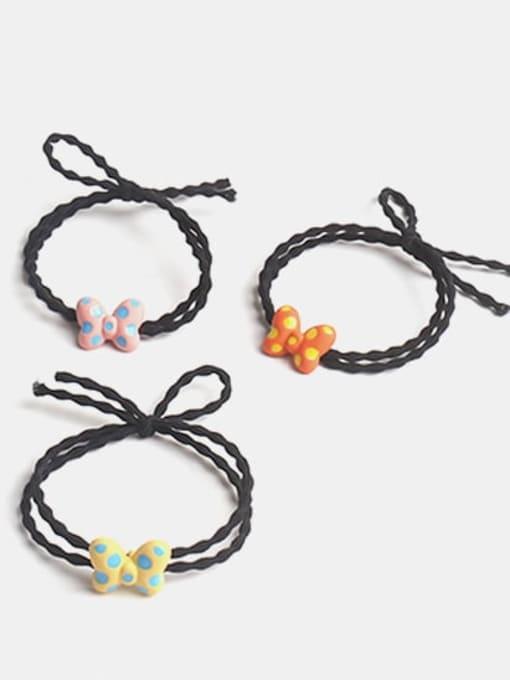 JoChic Alloy Enamel Cute Butterfly Multi Color Hair Barrette 3