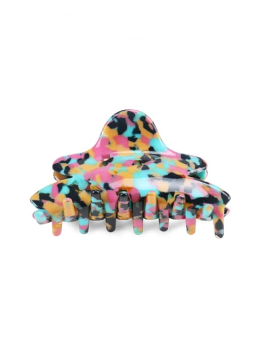 colourful Cellulose Acetate Minimalist Geometric Multi Color Jaw Hair Claw