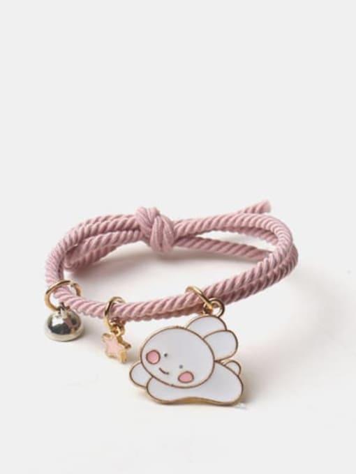 JoChic Alloy Enamel Cute Rabbit  Multi Color Hair Rope 0