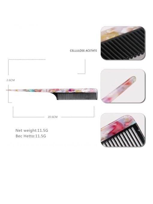 BUENA Cellulose Acetate Minimalist Geometric Multi Color Hair Comb 1