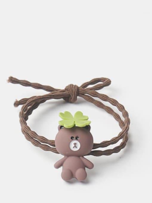 Long grass brown bear Cute Icon Hair Rope