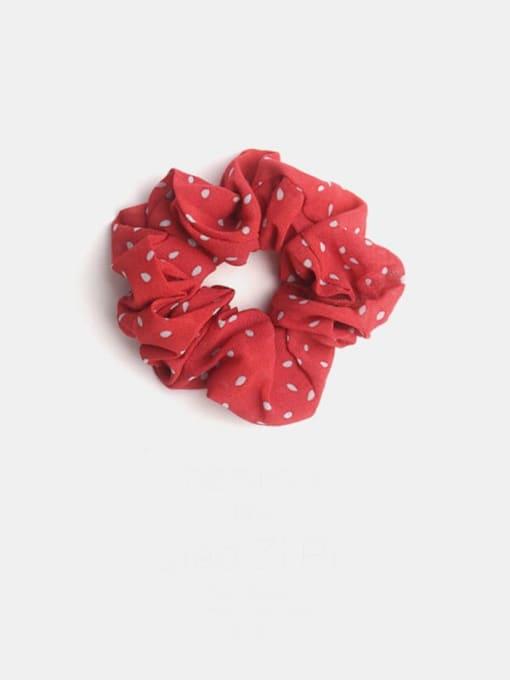 red Minimalist Fabric  Hair Barrette