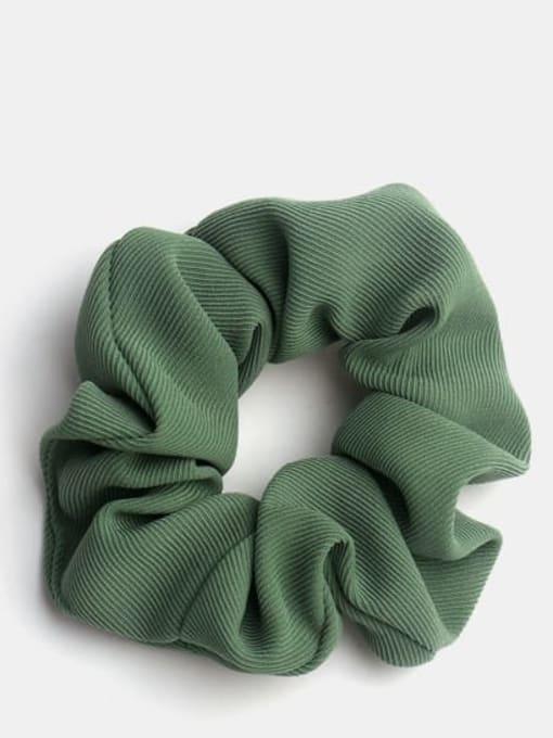 green Minimalist  Fabric Hair Barrette