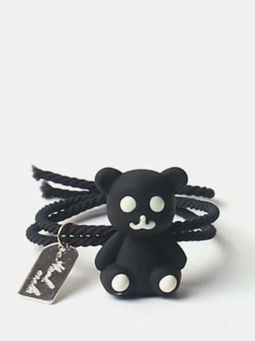 Black 1 Cute Multicolor puppet bear Hair Rope