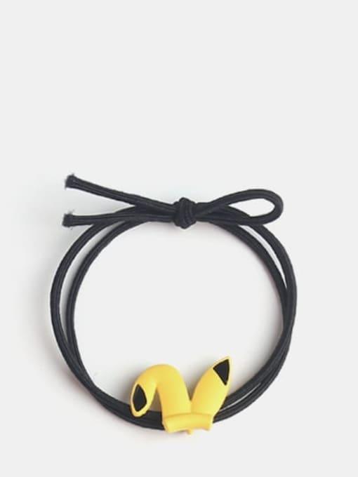 Pikachu black rope Cute Cartoon animal  Hair Rope