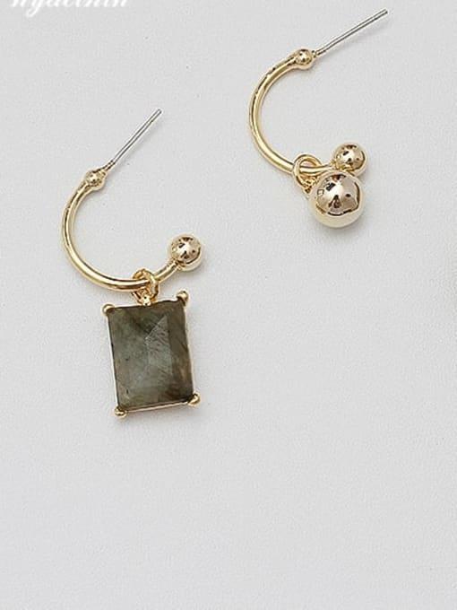 HYACINTH Copper Alloy Gold Geometric Minimalist Drop Earring 1