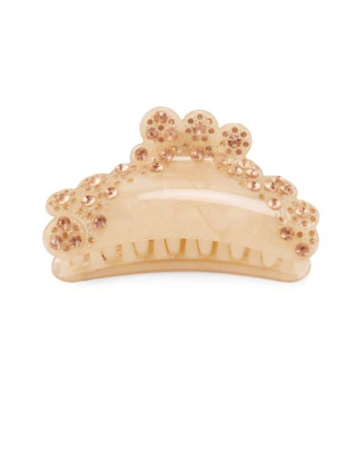 golden Acrylic Minimalist Irregular Alloy Rhinestone Multi Color Jaw Hair Claw