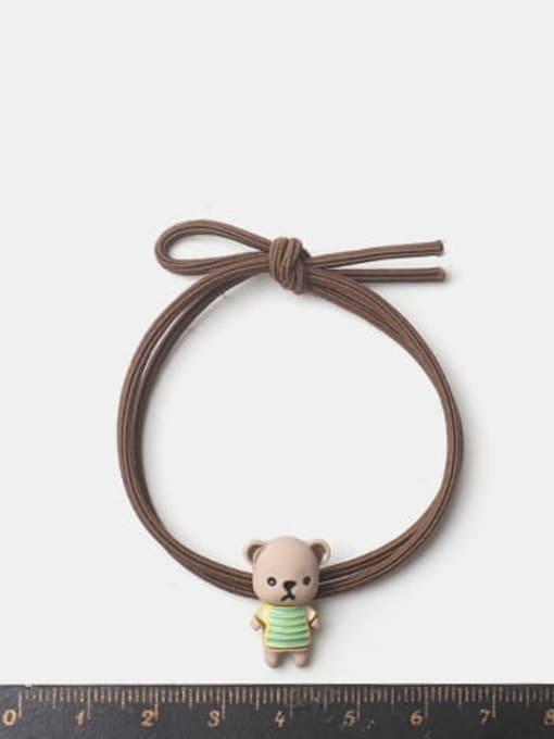 JoChic Alloy Enamel Cute Bear  Multi Color Hair Rope 1