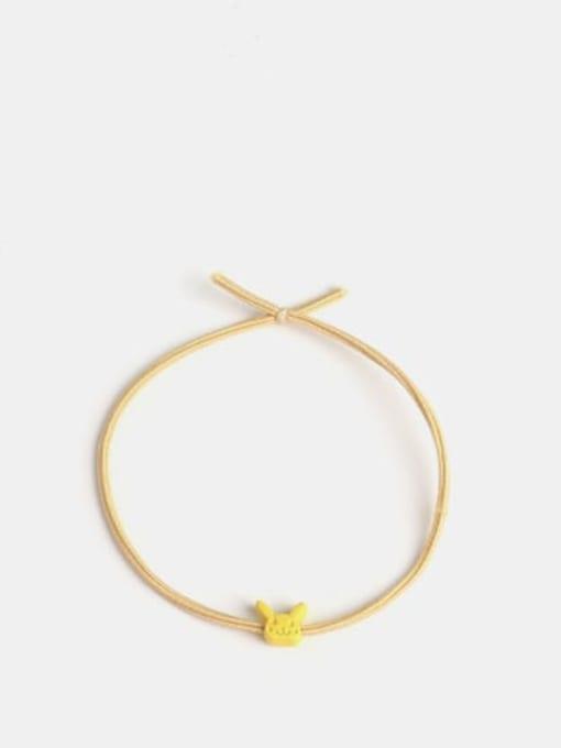 Yellow Pikachu Cute Hair Rope