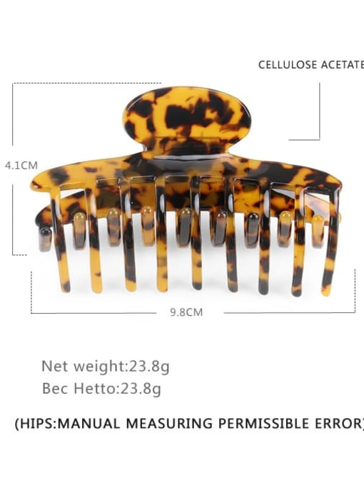 Deep hawksbill Cellulose Acetate Minimalist Geometric Jaw Hair Claw