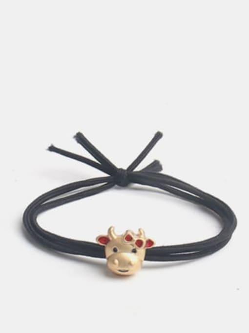 Red cow Cute cartoon Red Cow Hair Rope