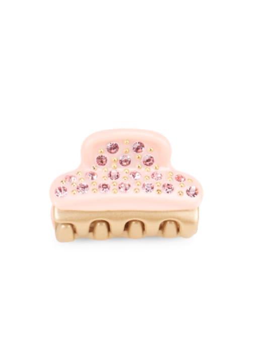 Candy powder Cellulose Acetate Minimalist Geometric Rhinestone Jaw Hair Claw