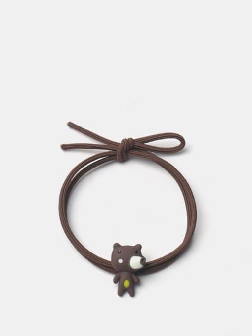 JoChic Alloy Enamel Cute Bear  Hair Rope