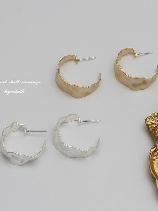 HYACINTH Copper Alloy Gold Geometric Minimalist Hoop Earring 2