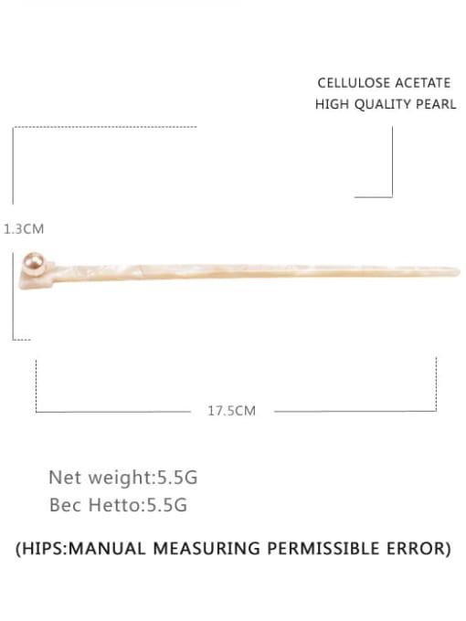 ivory Cellulose Acetate Minimalist Irregular Multi Color Hair Stick