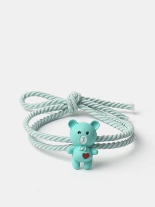 India love bear green Alloy Cute Heart  Multi Color Hair Rope