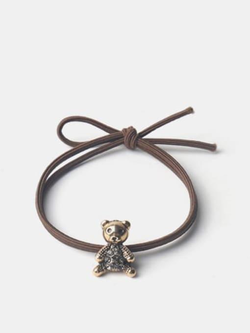 Diamond bear Alloy Cute Bear Rhinestone Hair Rope