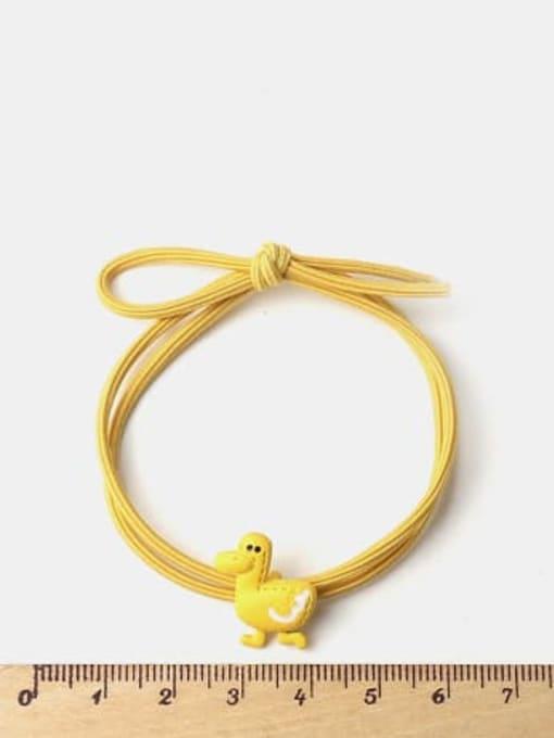 JoChic Cute Light Pink Rabbit Yellow Duckling Pink Pig Hair Rope 1