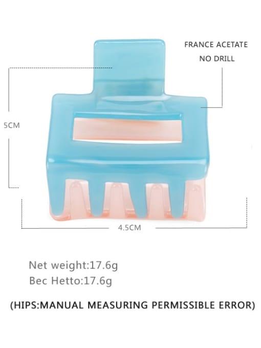 Blue powder Cellulose Acetate Minimalist Geometric Multi Color Jaw Hair Claw