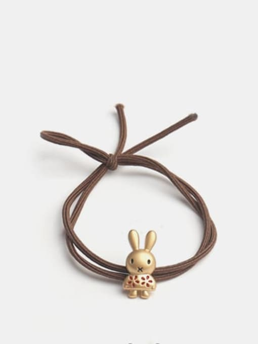JoChic Cute Rabbit Alloy Hair Rope 0